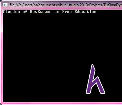 Từ khóa Dynamic trong C#, C# cơ bản, tự học C#, Kteam, HowKteam