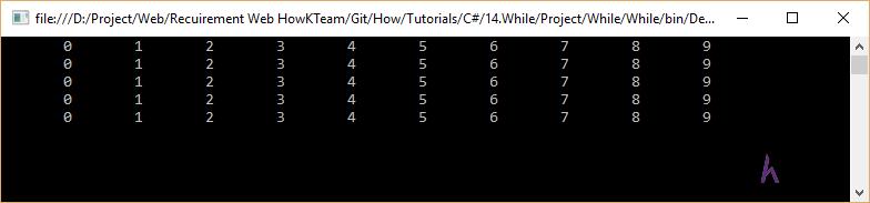 Vòng lặp While trong C#, C# cơ bản, tự học C#, Kteam, HowKteam