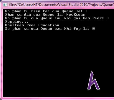Queue trong C#,Enqueue ,Dequeue,