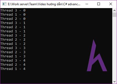 Lập trình đa luồng Multi threading trong C#.