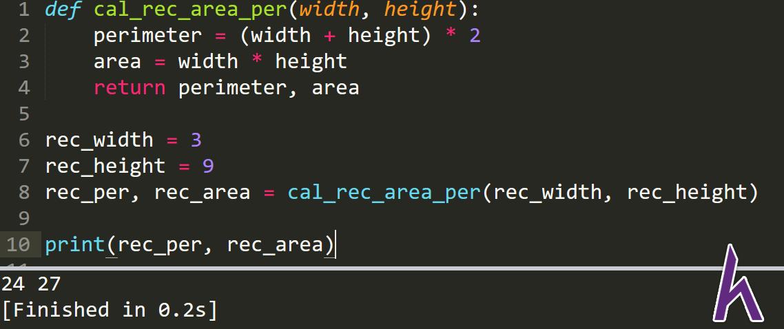 Kiểu dữ liệu Function trong Python - Return