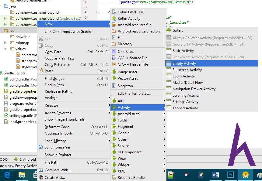 Các chức năng cơ bản của Android Studio